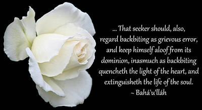 Backbiting A Grievous Error Art Print by Baha'i Writings As Art