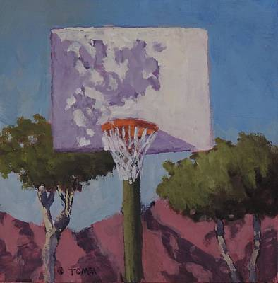 Painting - Backboard Shadows - Art By Bill Tomsa by Bill Tomsa
