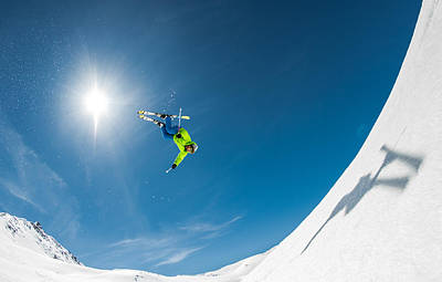 Skiing Photograph - Backcountry Backflip by Eric Verbiest