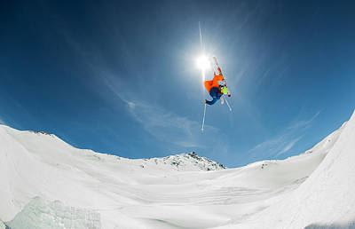 Skiing Photograph - Backcountry Kicker Locals Only by Eric Verbiest