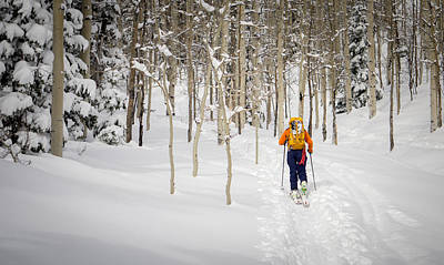 Backcountry Skiing  Art Print by Helix Games Photography