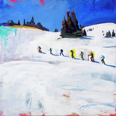 Summit County Painting - Backcountry Trek by Leslie Jorgensen