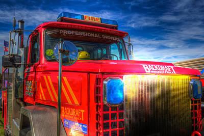 Photograph - Backdraft Fire Truck by David Pyatt