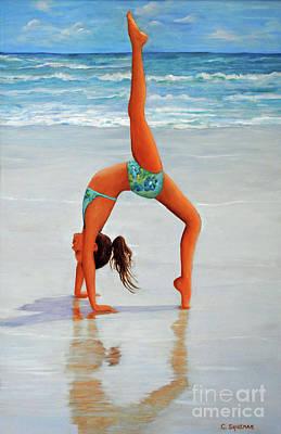 Backflip Painting - Backflip At The Beach by Carolyn Shireman