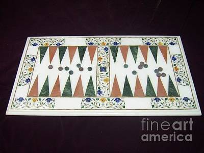 Marble Chess Boards Painting - Backgammon Board by mohammad Azhar