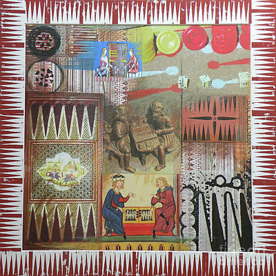 Backgammon Mixed Media - Backgammon by Leigh Banks