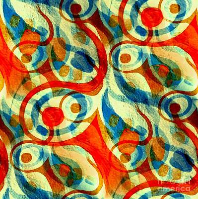 Painting - Background Choice Coffee Time Abstract by Barbara Moignard