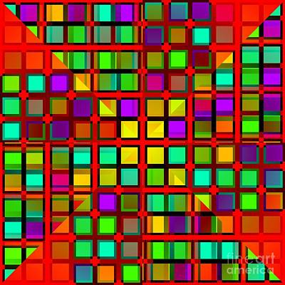 Digital Art - Colour Choice Squares 2 by Barbara Moignard
