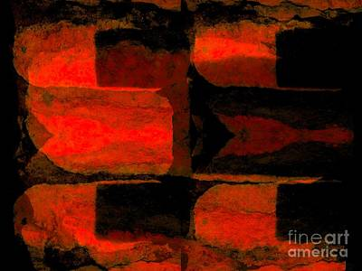 Photograph - Colour Choice Stone Abstract by Barbara Moignard