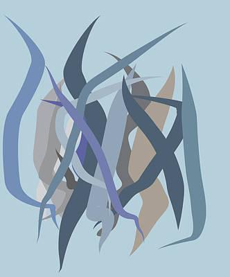 Art Nouveau Style Mixed Media - Background For Duvet by   Eyauuk