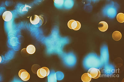 Photograph - Background Of Christmas Lights by Patricia Hofmeester