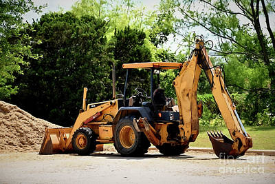 Photograph - Backhoe And Loader 12118 by Ray Shrewsberry