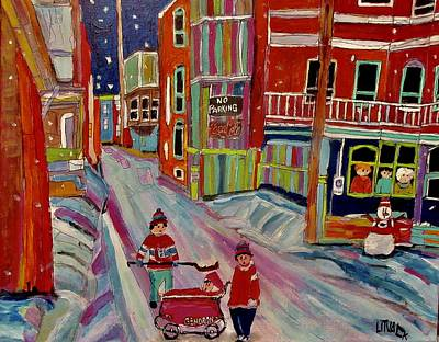 Painting - Backlanes Of Westmount by Michael Litvack