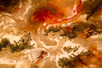 Photograph - Backlit Agate 2 by Jean Noren