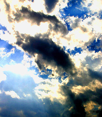 Backlit  Clouds Art Print