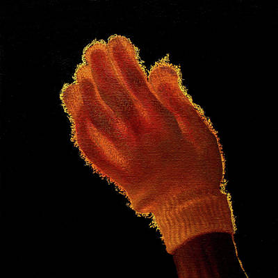 Painting - Backlit Glove by Rebecca Giles