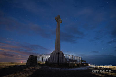 Photograph - Backlit Monument At Night by Clayton Bastiani