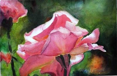 Painting - Backlit Rose by Kathy Nesseth