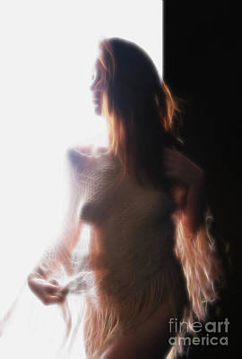 Backlit Soft Nude Image Of Female - 3026da Art Print by Cee Cee - Nude Fine Arts