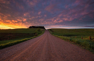 Print featuring the photograph Backroad To Heaven  by Aaron J Groen