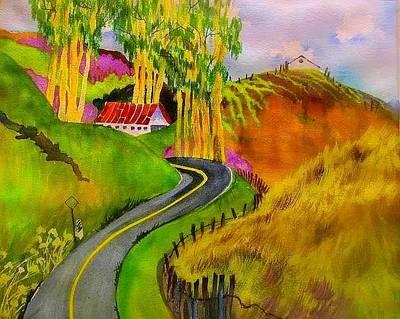 Backroads Sonoma County  Art Print