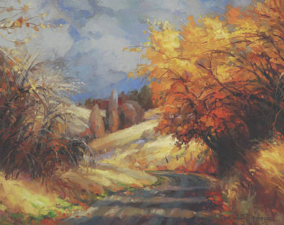 Countryside Painting - Backroads by Steve Henderson