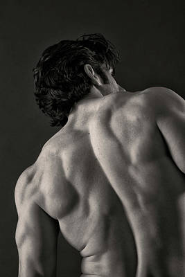 Male Physique Photograph - Backscape II by Thomas Mitchell