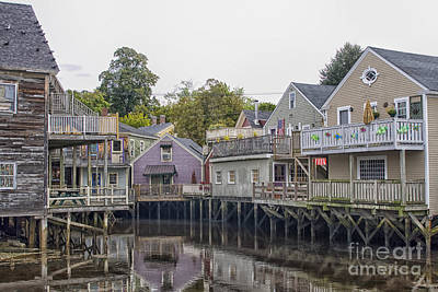 Photograph - Backside Of Wooden Houses Over Water by Patricia Hofmeester