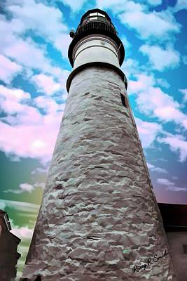 Digital Art - Backside View Of Portland Head Lighthouse. by Rusty R Smith