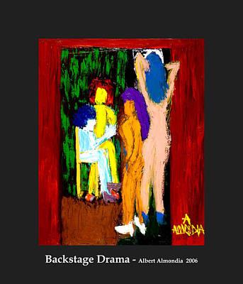 Backstage Drama Art Print by Albert Almondia