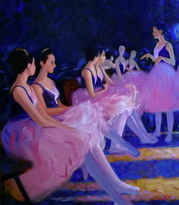 Painting - Backstage by Kevin Lawrence Leveque