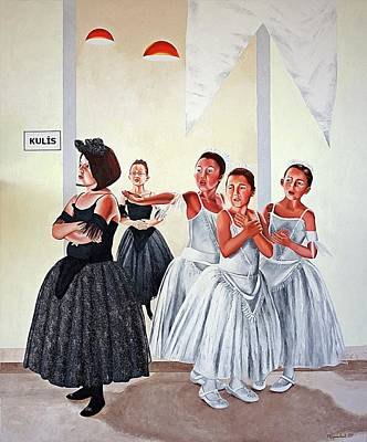 Painting - Backstage by Rezzan Erguvan-Onal