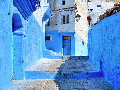 Photograph - Backstreet In The Blue City by Dominic Piperata