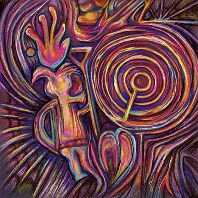 Petroglyph Painting - Backward Breath by Julianne Black DiBlasi