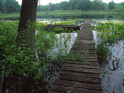Indiana Landscapes Photograph - Backwater Pier by Michael L Kimble