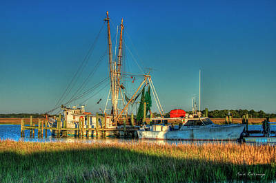 Photograph - Backwater Shrimp Gear Charleston South Carolina by Reid Callaway