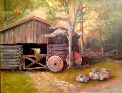Painting - Backwoods Barn by Steven Lester