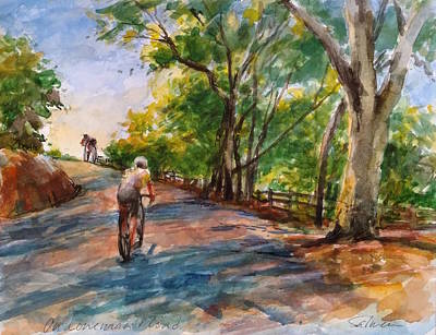 Painting - Backwoods Pedaling by Peter Salwen