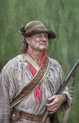 Seven Years War Digital Art - Backwoodsman Hunter Portrait  by Randy Steele