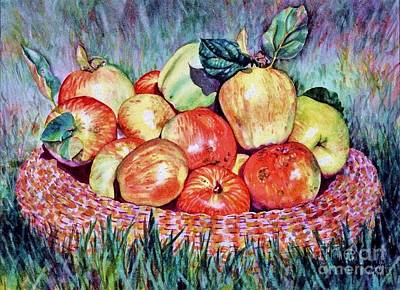 Backyard Apples Art Print