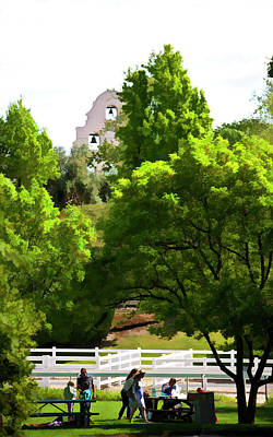 Winery Digital Art - Backyard At The Winery by Patricia Stalter