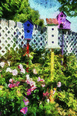 Photograph - Backyard Bird Houses by Thom Zehrfeld