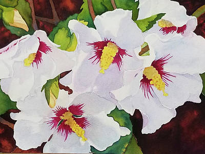 Painting - Backyard Blooms by Judy Mercer