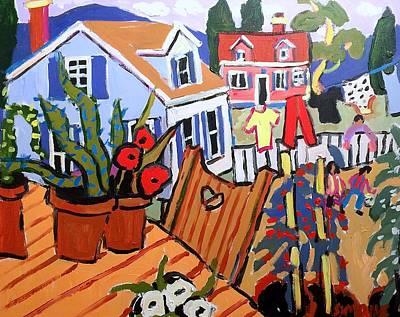 Painting - Backyard by Brian Simons