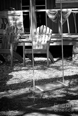 Photograph - Backyard Bw by Ella Kaye Dickey