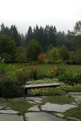 Photograph - Backyard Flower Garden At Whidbey Isle by Henri Irizarri