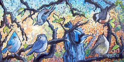 Painting - Backyard Gang by Janet McDonald