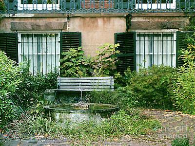 Photograph - Backyard Garden - New Orleans, Louisiana by Merton Allen
