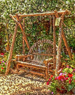 Backyard Garden Art Print