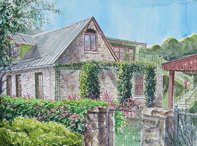 Mike Martin Painting - Backyard Gate by Mike Martin